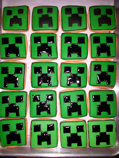 Minecraft cookies and cake