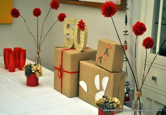 Recopilaci n de mis mesas de navidad - Ideas para celebrar 50 cumpleanos ...