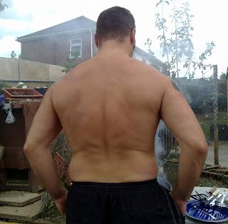 back shot of man