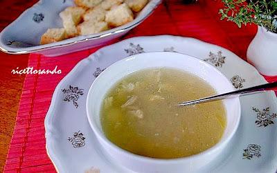 Vellutata di pollo e brodo di pollo ricetta minestre