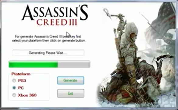 Key generator для multiplayer assassin creed revelations.