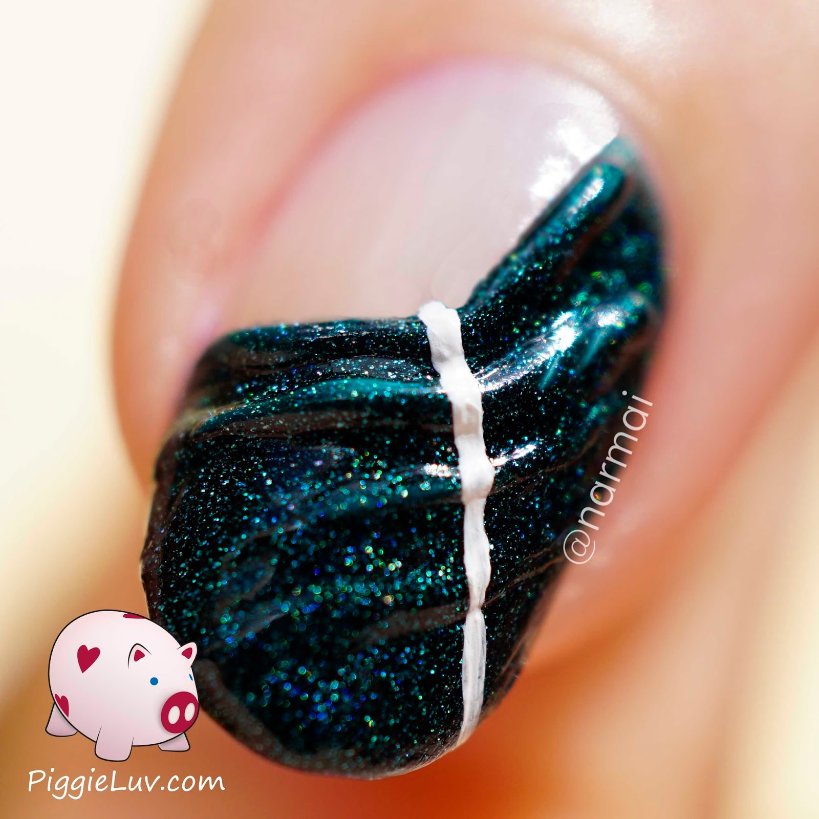 Piggieluv 3d Pull The Curtain Nail Art