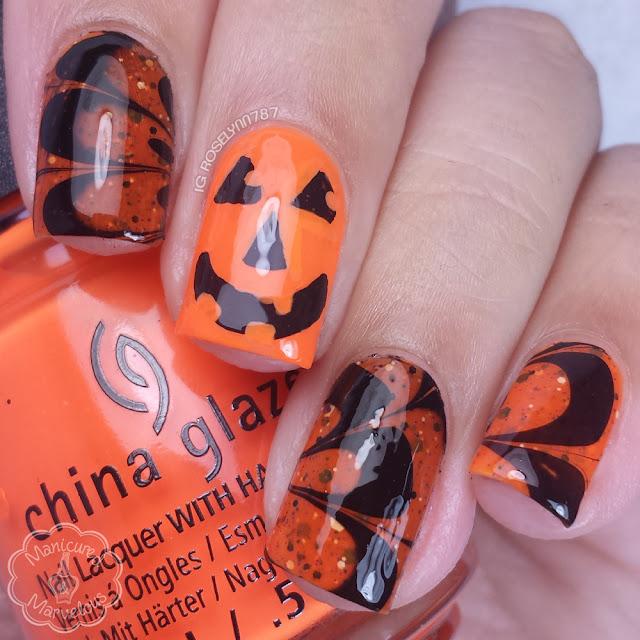 13 Days of Halloween: Pumpkin Watermarble