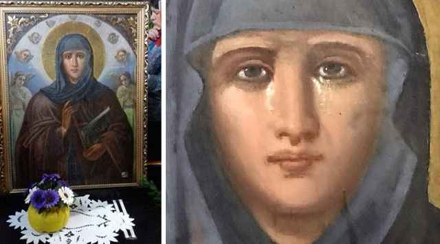 """""""Θαύμα""""! Η Εικόνα της Αγίας Παρασκευής κλαίει στην Βουλγαρία(Βίντεο)"""
