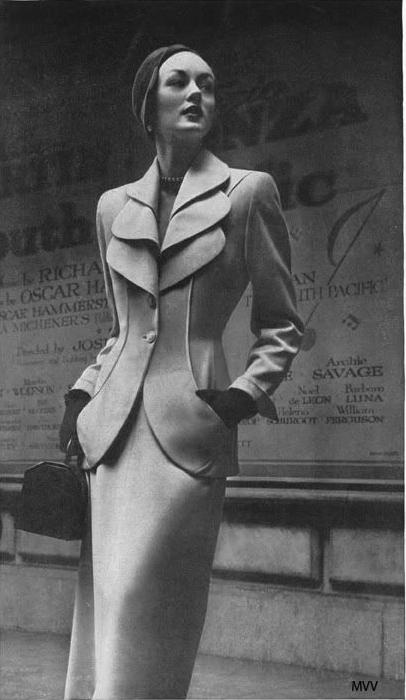 A Classic Lilli Ann Suit #vintage #tailoring #50s #fashion #suit