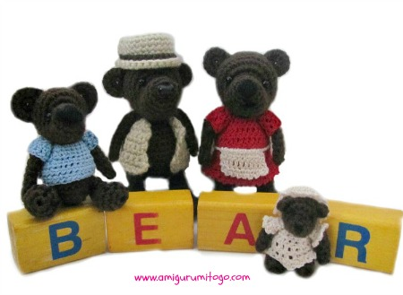 Miniature Bear Family Pattern Give Away ~ Amigurumi To Go