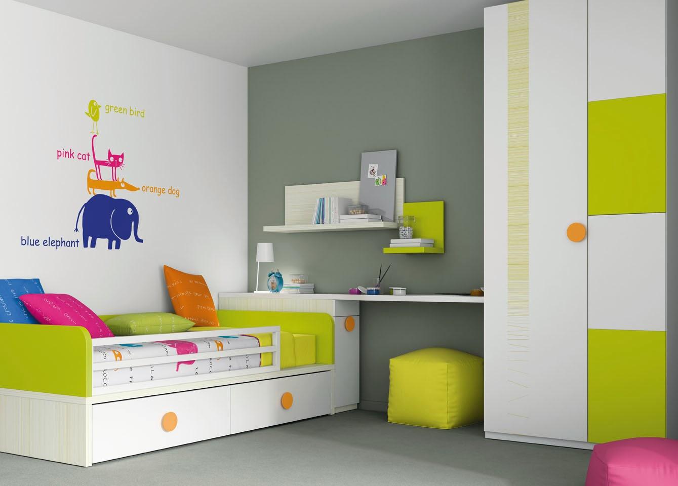 Decorare la cameretta dei bambini mobili ros - Mobili per bambini design ...