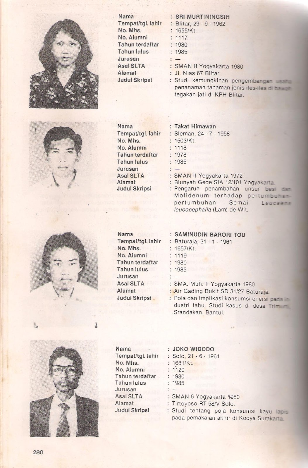 Kehutanan Ugm Jokowi Kehutanan Ugm 1957