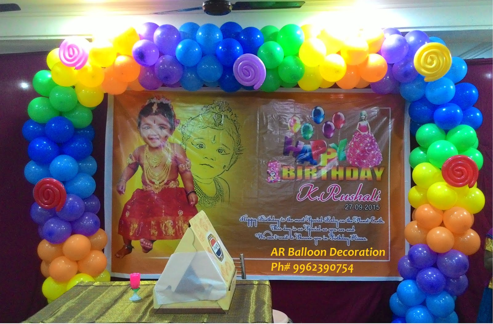 Ar balloon decoration the best balloon decorations in for Balloon decoration in chennai