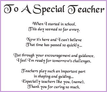 informal theme in english iii teacher s day dedication