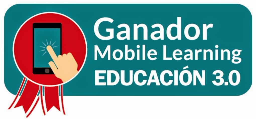 Sello del Premio Mobile Learning Educación 3.0