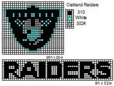 Here is a pattern for the NFL logo, AFC logo, and NFC logo. I do not ...