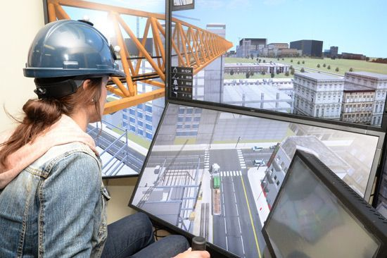 Crane Operator Training Simulator