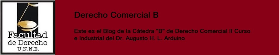 Derecho Comercial B