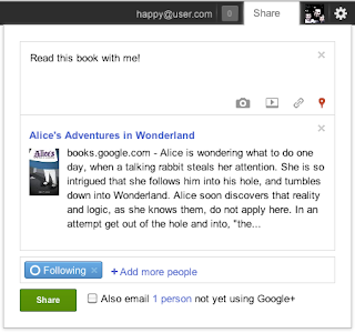 google book sharing