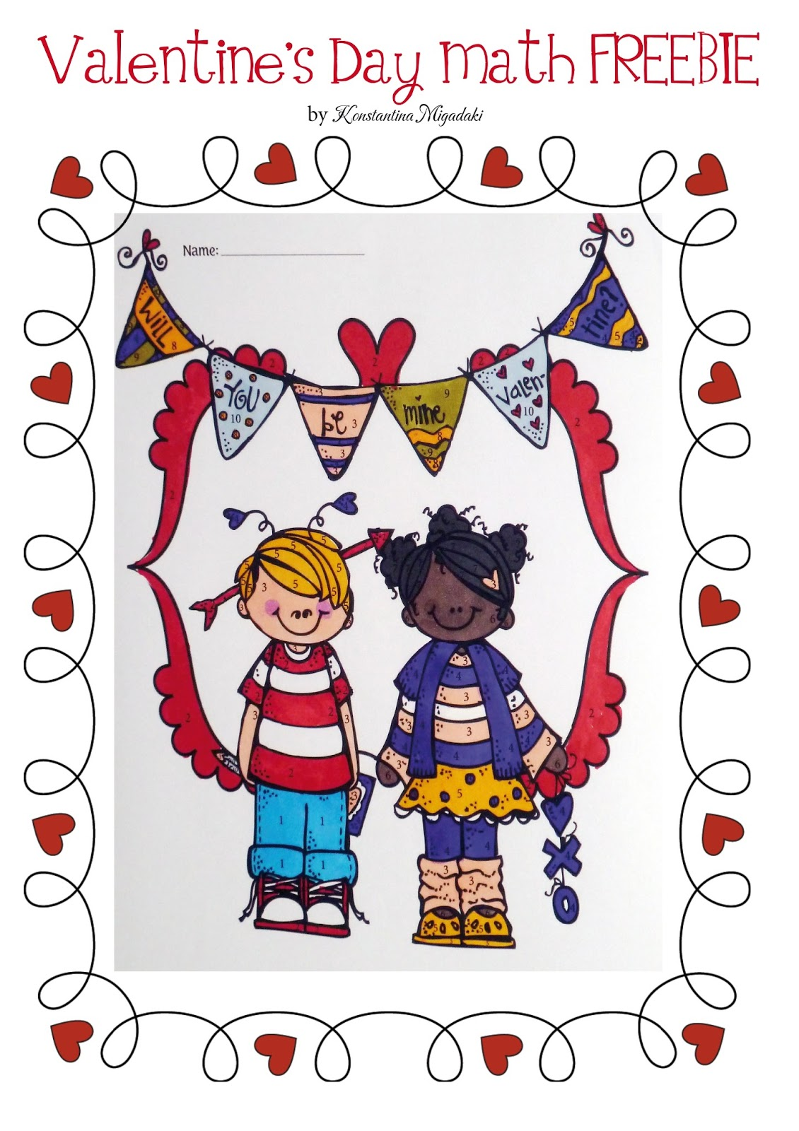 Valentines Day Math Coloring 1st Grade | Search Results | Calendar ...