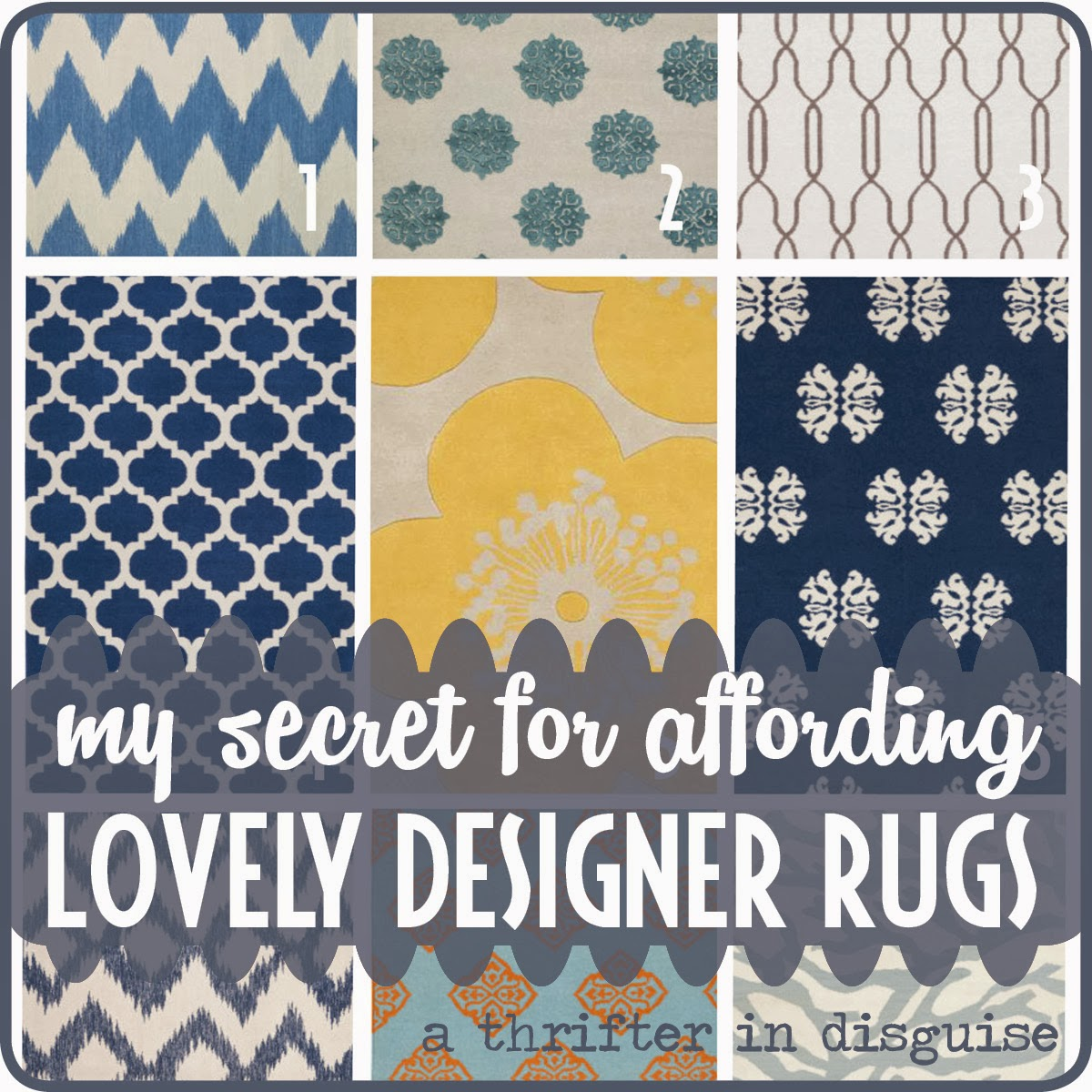 A Thrifter In Disguise How To Buy Designer Label Rugs For Less