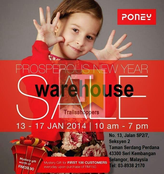 PONEY Kids Apparels Prosperous Chinese New Year Warehouse Sale at Seri Kembangan