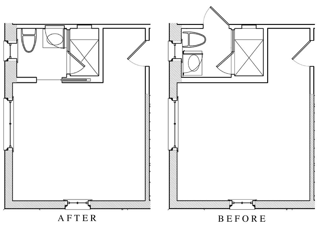 Small Bathroom Plan tone on tone: small bathroom renovation