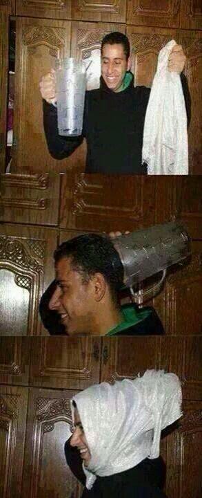 Cara Memakai Jilbab kocak