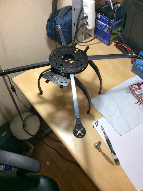 atornillado chasis multicoptero