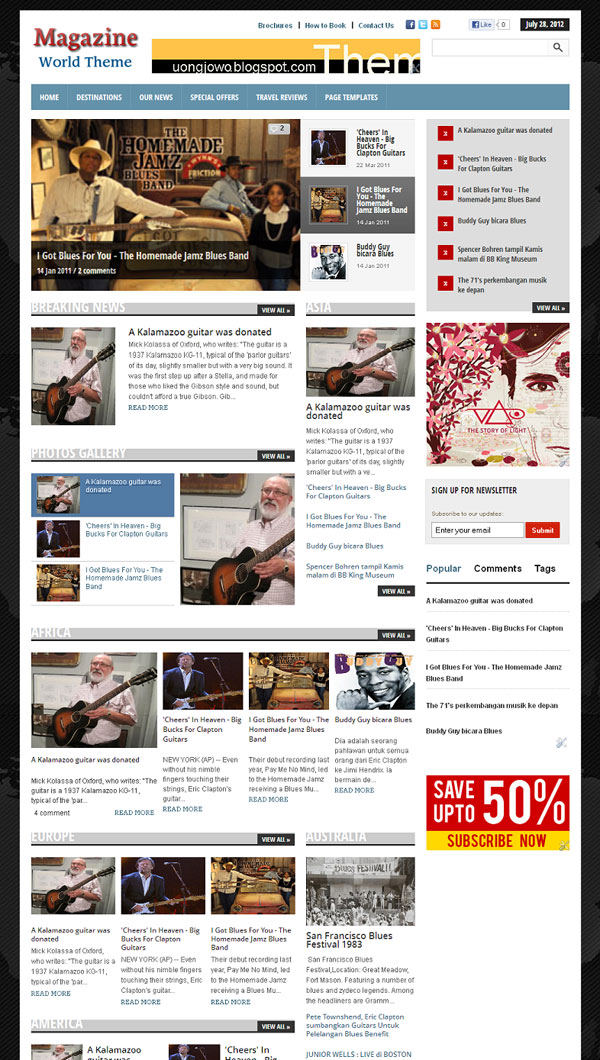 best wordpress themes collection magazine world blogger template. Black Bedroom Furniture Sets. Home Design Ideas