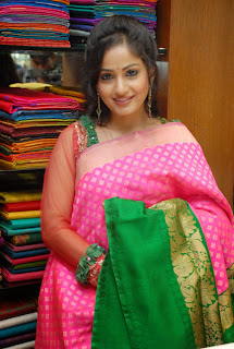 Actress Madhavi Latha Pictures in Salwar Kameez at Sreeja Fashions South Silk Festival 2013 Launch 0008.jpg