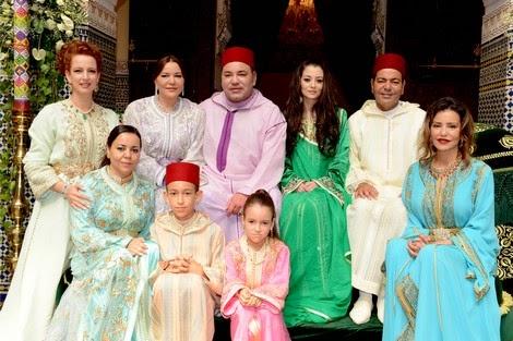 حفل عقد قران الأمير مولاي رشيد على الآنسة أم كلثوم بوفارس، بحضور قفطان مغربي ساحر