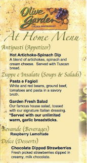 olive garden date night  home recipes included