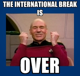 Captain Picard meme celebrating the end of the international break