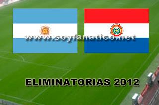 Partido Argentina Paraguay Futbol 2012