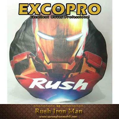 sarung ban cover ban serep mobil rush iron man