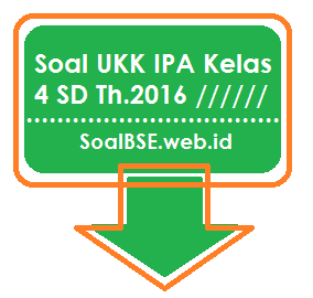 Soal UKK IPA Kelas 4 SD Th.2016 60 Butir PG dan Esay