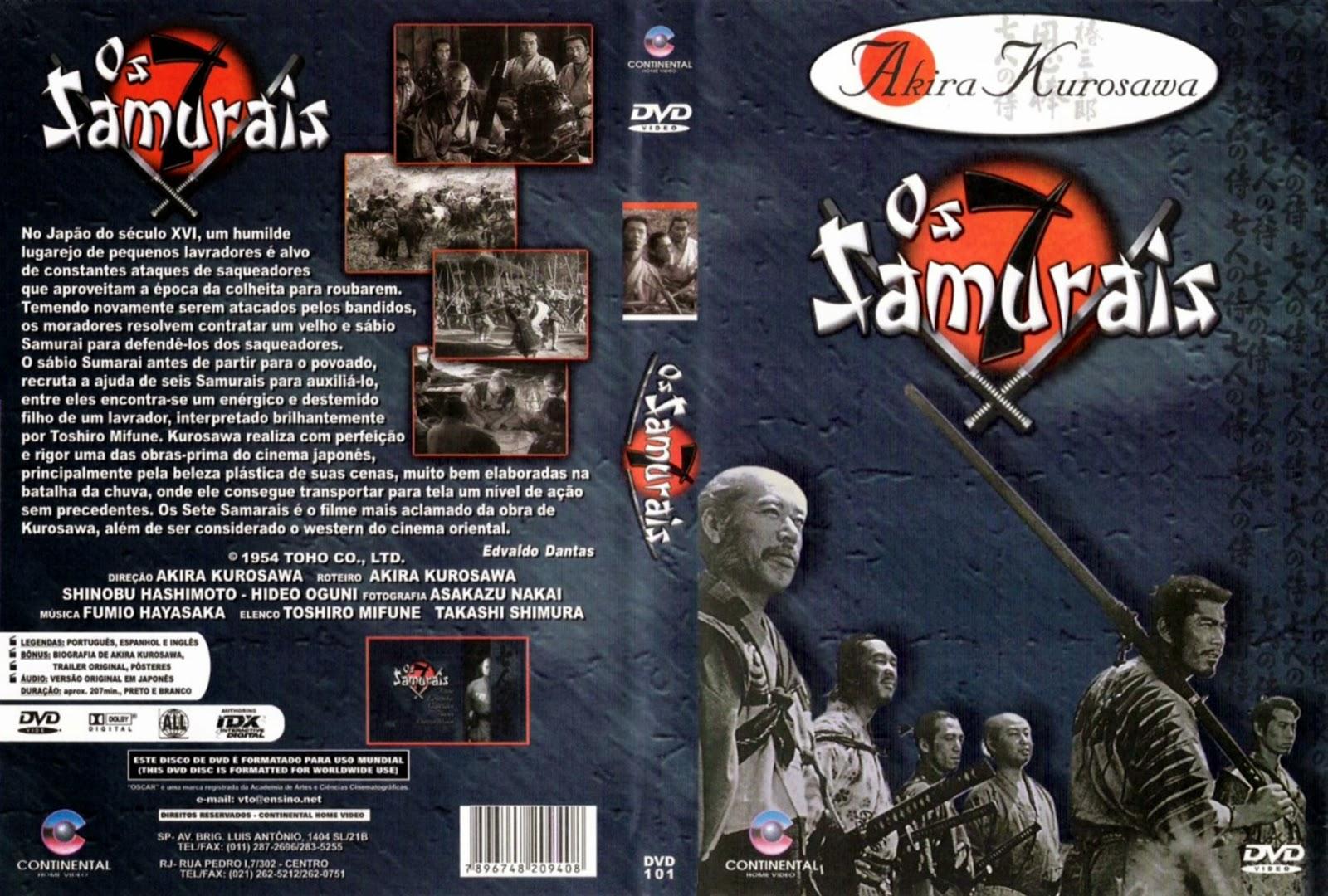 Capa DVD Os 7 Samurais
