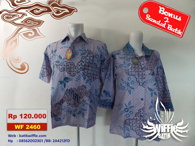 Batik Couple Elegan Biru
