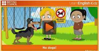 http://learnenglishkids.britishcouncil.org/en/short-stories/no-dogs