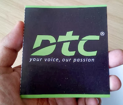 DTC Mobile GT15 Astroid Fiesta Warranty Card