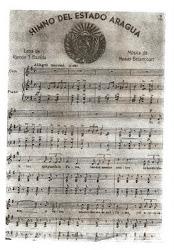 Partitura del Himno del Estado Aragua