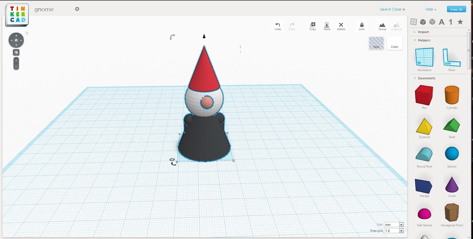 Warranty Void Gr0b Tinkercad Gnome: tinkercad 3d
