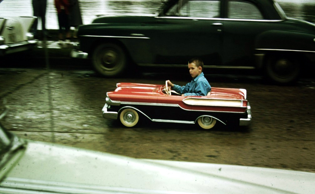 kids and pedal cars