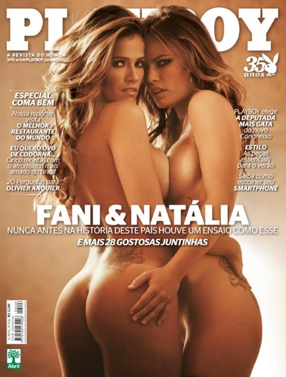Fani Pacheco e Natália Casassola peladas
