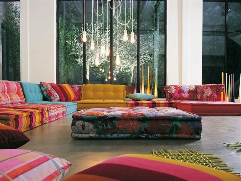 Designer couch bunt  Die-Wohngalerie: 40 Jahre Loungen - ein 70er Jahre Design setzt ...