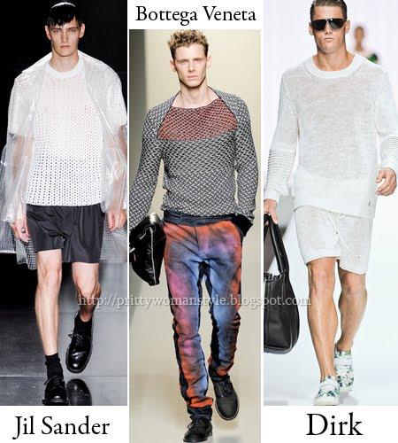 Мрежести мъжки пуловери за лято 2012