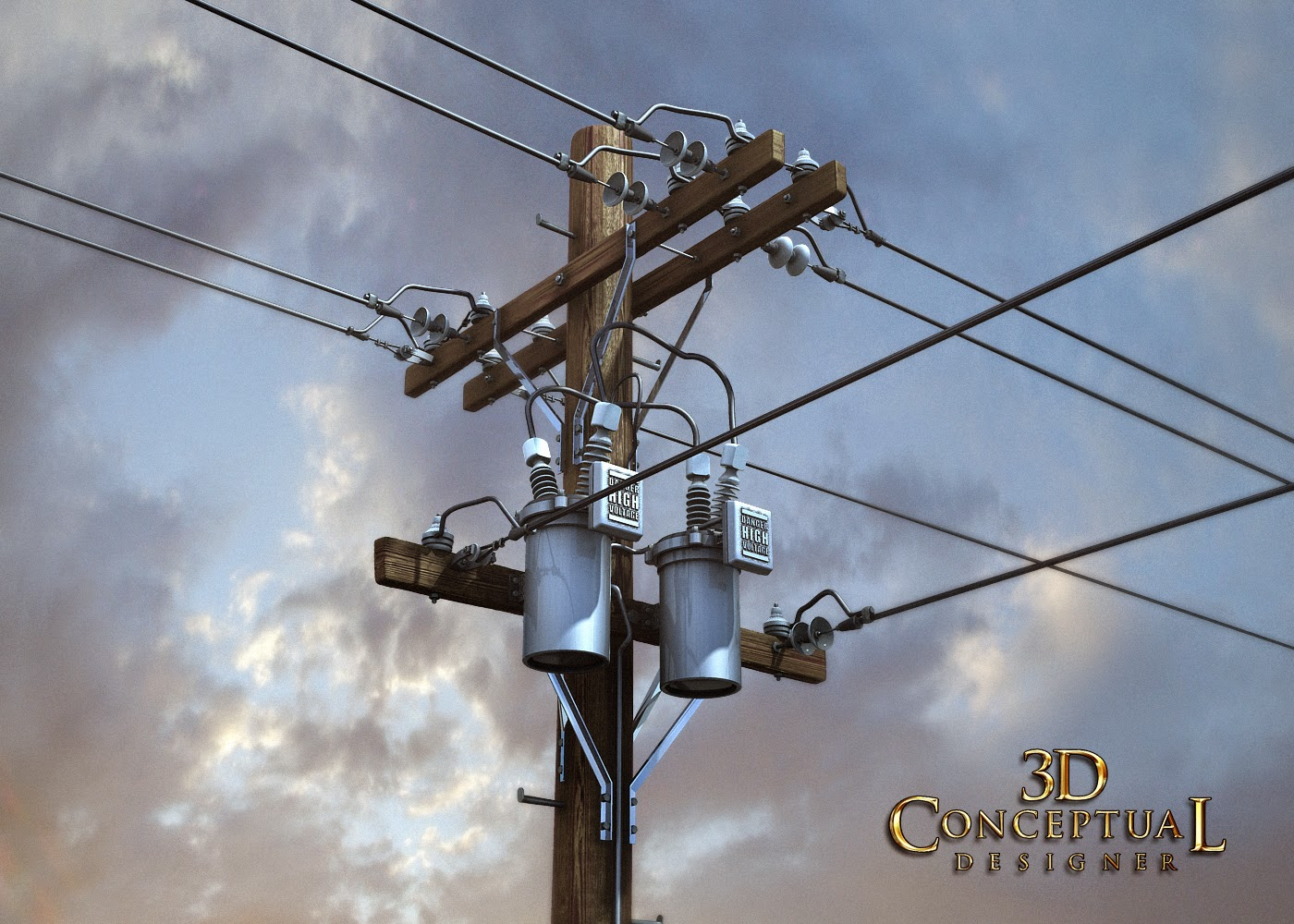 Electric Poles Power Lines : Dconceptualdesigner d stock model sales telephone