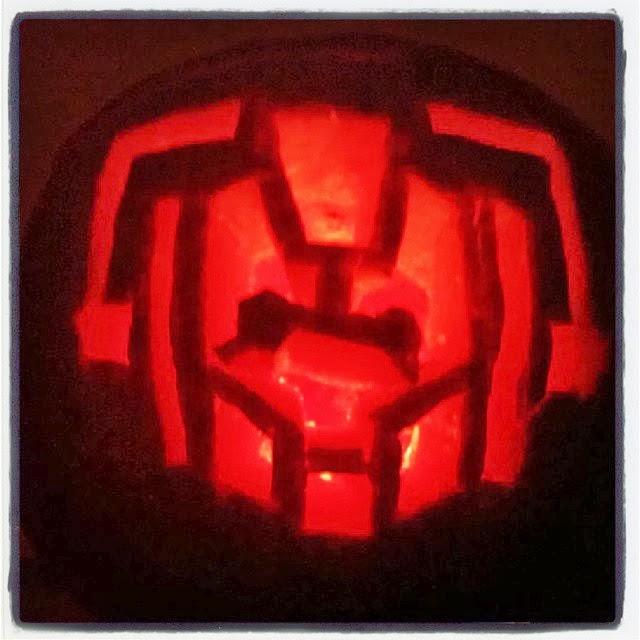hello im the doctor cyberman pumpkin stencil and my