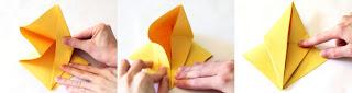 cara membuat origami angsa