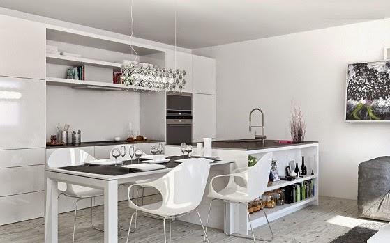 Cocinas decoracion y diseño de cocinas: decoracion cocinas blancas