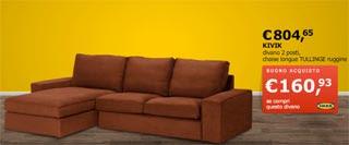 Arredamenti moderni promozioni divani ikea di novembre for Divano gigante