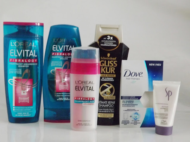 L'Oréal Elvital Fibralogy Haarpracht-Kreierendes Shampoo L'Oréal Elvital Fibralogy Haarpracht-Kreierendes Spülung L'Oréal Elvital Fibralogy Haarpracht Kur Schwarzkopf Gliss-Kur Ultimate Repair Shampoo Dove hair therapy Haarmaske Wella SP Repair Shampoo