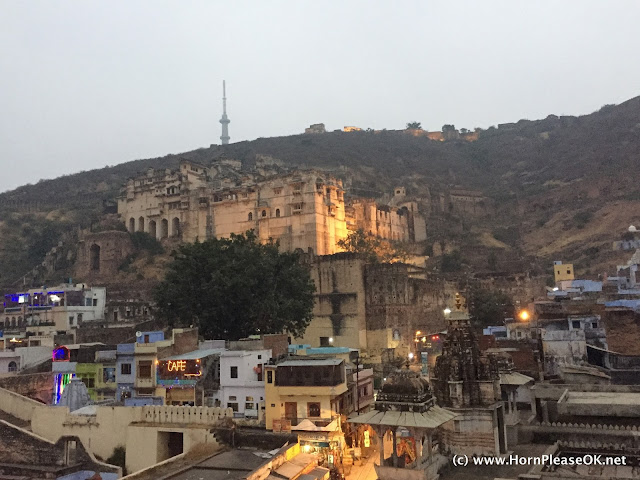 Bundi Palace seen from the town